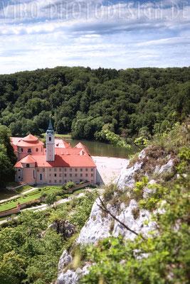 Weltenburger Kloster von oben.