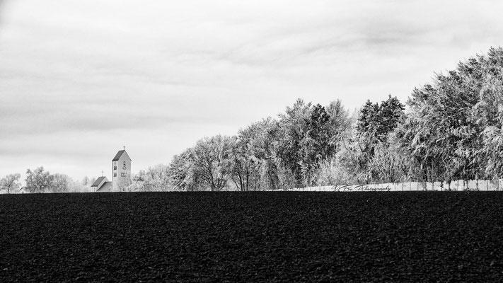 Winterliche Landschaft in Regensburg Ziegetsdorf.