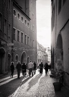 Licht und Schatten. Haidplatz, Regensburg.