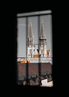 Regensburger Dom von oben.