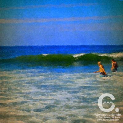 Strandläufer, Meer, Fotokunst, art photo, Fotokunst Gemälde, Carolin von Wolmar, Wiesbaden, Fotokunst kaufen, Atelier, Kunstsammlung, Fotografie, Sommerurlaub