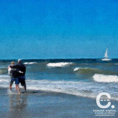 Paar am Meer, Meer, Fotokunst, art photo, Fotokunst Gemälde, Carolin von Wolmar, Wiesbaden, Fotokunst kaufen, Atelier, Kunstsammlung, Fotografie, Sommerurlaub