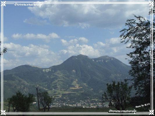 une vue de Digne-les-Bains  et du Cousson