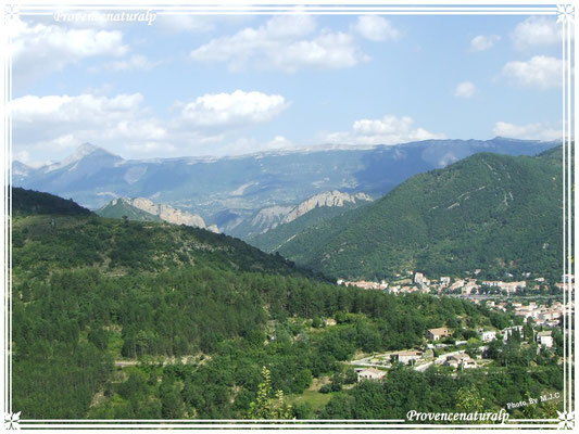 Une vue de Digne-les-Bains