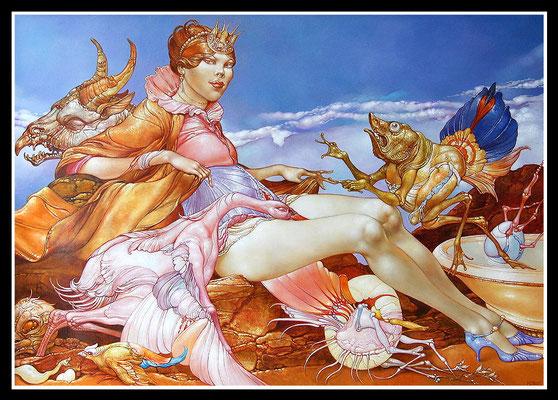 """""""Prinzessin auf dem Anger""""   70x100cm, Öl/MP, 2011 -  Preis auf Anfrage"""
