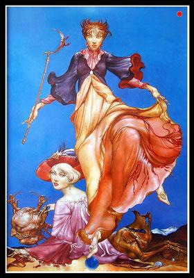 """Diana mit beschmutztem Kleid""   80x60cm, Öl/MP, 2002 -  VERKAUFT"