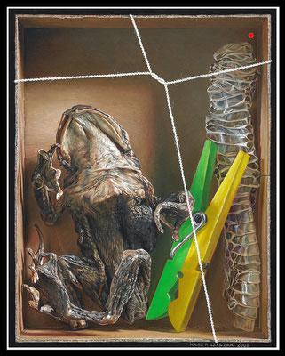 """""""Trocken""""   25x20cm, Öl/Malplatte, 2008 -  VERKAUFT"""