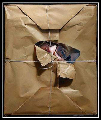 """""""Verpackt""""   120x100cm, Öl/Malplatte, 2012 - Preis auf Anfrage"""