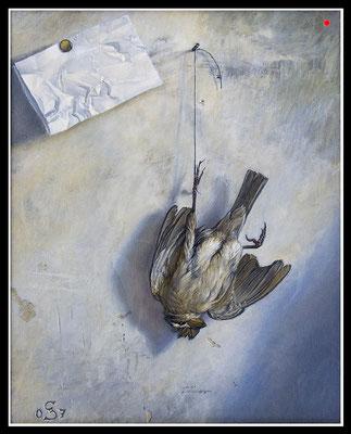"""""""Botschaft""""   40x30cm, Öl/Malplatte, 2007 -  VERKAUFT"""