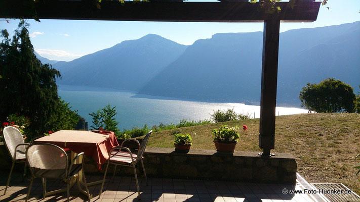 Gardasee von Pregano (Gargnano) aus