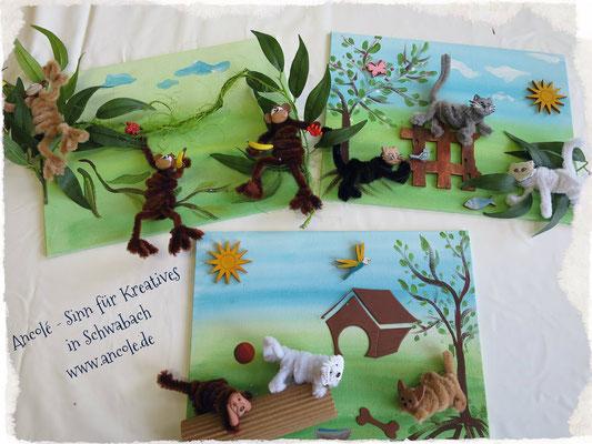 Kinderferienprogramm 2015: Lustige Tierbilder mit Pfeifenputzern