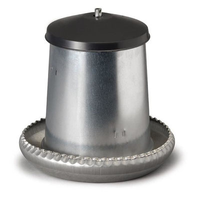 Mangeoire fût en acier galvanisé pour 8 ou 18 kg de nourriture - 5 kg - 18 kg