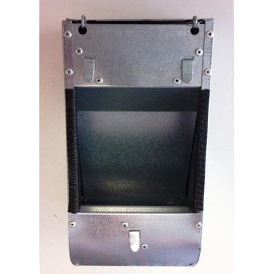 En acier galvanisé avec couvercle 1 ou deux compartiments. Très solide