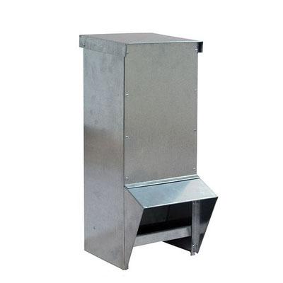Mangeoire en acier galvanisé avec anti-pluie pour l'extérieur - 2 l - 10 l - 18 l - 25 l