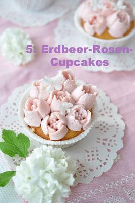 Erdbeere-Rosen-Cupcakes von Caketime by Tamaris