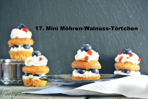 Mini Möhren-Walnuss-Törtchen von Freude hoch 2