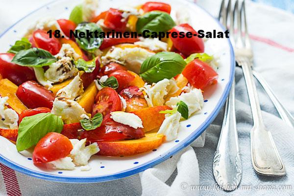 Nektarinen-Caprese-Salat von Kochen mit Diana