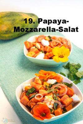 Papaya-Mozzarella-Salat von Amor und Kartoffelsack
