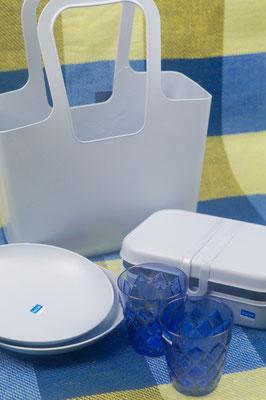 blaues Picknickest von Koziol