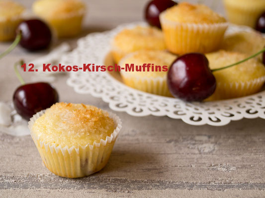 Kokos-Kirsch-Muffins von Daniela´s Foodblog