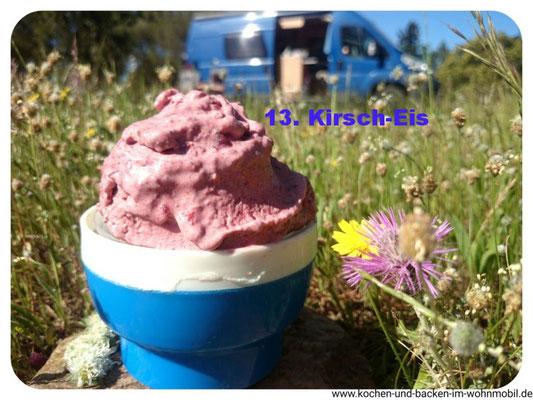 Kirsch-Eis von Kochen und backen im Wohnmobil