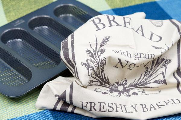 Mini-Baguettebackform und Brotbeutel von Birkmann (Backfreunde.de)