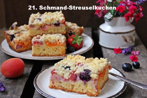 Schmand-Streuselkuchen mit Sommerobst von Charlotta´s Küchentisch