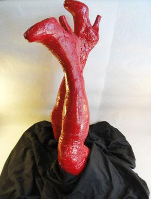 Strangelove, 2011. Plaster and fabric.