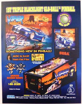 "Flyer ""Viper Night Drivin'"" von Sega"