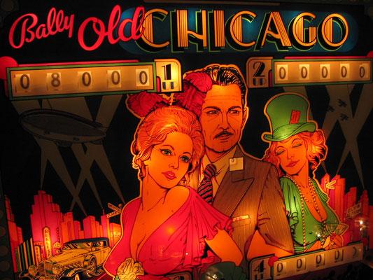 """Flipperscheibe """"Old Chicago"""" von Bally"""