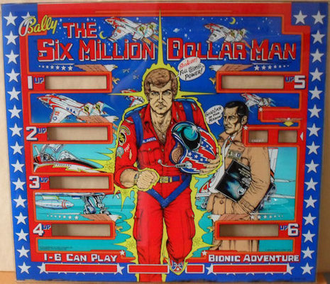 "Flipperscheibe ""Six Million Dollar Man"" von Bally"
