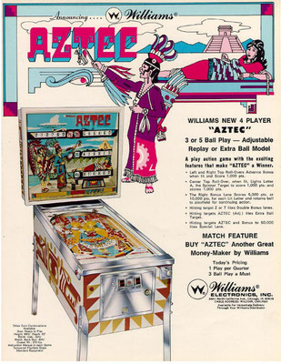 "Flyer ""Aztec"" von Williams"