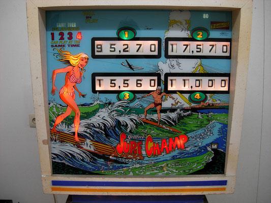 """Kopfteil """"Surf Champ"""" von Gottlieb"""