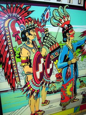 """Indianermotiv auf der Kopfscheibe des """"Aztec"""""""