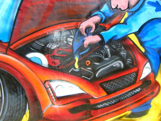 graffiti madrid motor coche