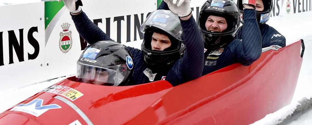 Österreich 4er Bob mit Sammer Markus (KSC Bad Häring)