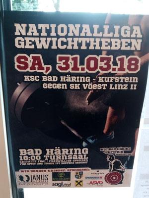 Plakat Nationalliga-Wettkampf