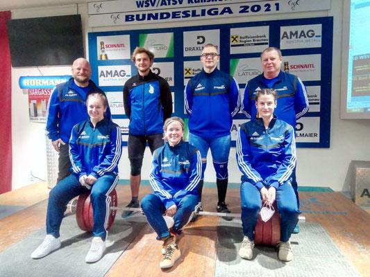 Mannschaftsphoto WKG Bad Häring/KSV-Rum I mit Betreuer Steiner Harald und Werner Uran