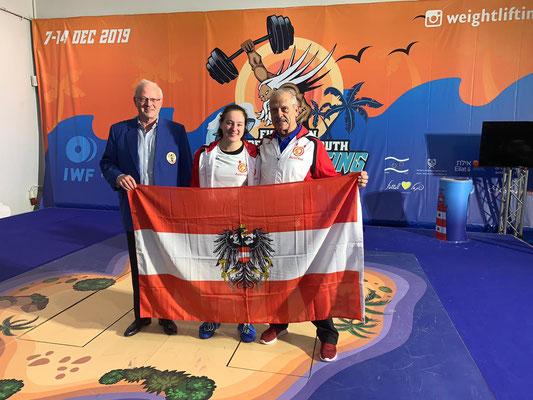 ÖGV-Präsident Peya Gerhard - Steiner Victoria - Nationaltrainer Lechner Hans