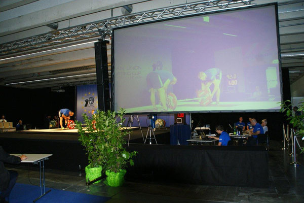 Bühnenbild 5th EU Weightlifting Cup
