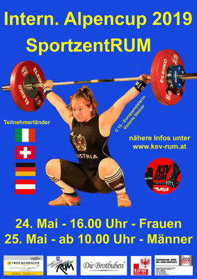 Plakat 12. Internationaler Alpencup 2019