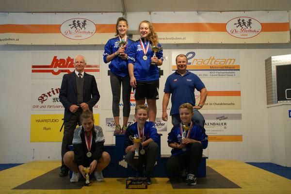 Siegerehrung Gesamtwertung Schüler-u. Jugendcup 2016 (Kreisser Hans & Uran Werner)