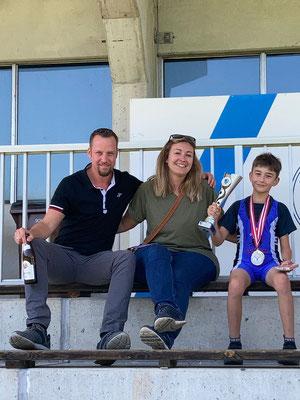 Familie Hofer mit dem österreichischen Meister Benjamin (KSV-Rum)