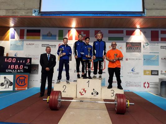Siegerehrung Mannschaftswertung mit Barth Florian (KSV-Rum)