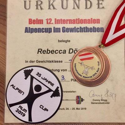 Urkunde & Medaille Dörner Rebecca (SC Kroftlaggl Kirchbichl)