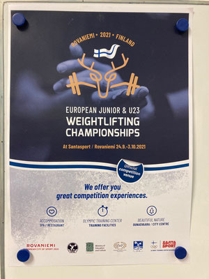 Plakat Junioren & U23 Europameisterschaft in Rovaniemi (Finnland)