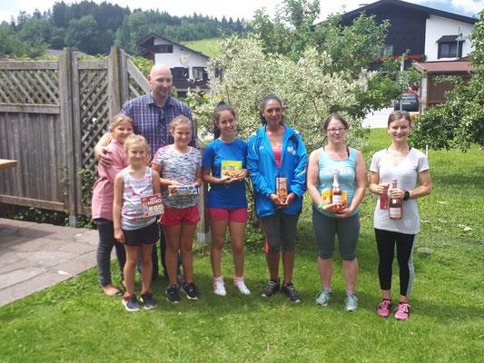 Siegerehrung Damen Tiroler Mehrkampfmeisterschaft 2018