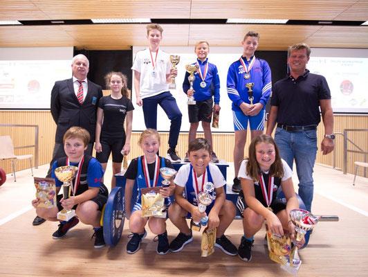 Siegerehrung Gesamtwertung Tiroler Schüler-u. Jugendcup 2019