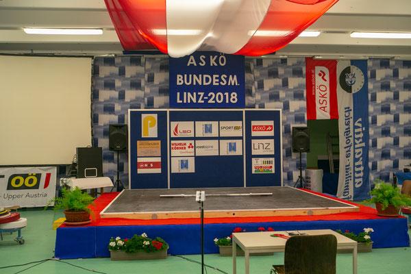 Wettkampfbühne ASKÖ-Bundesmeisterschaften 2018