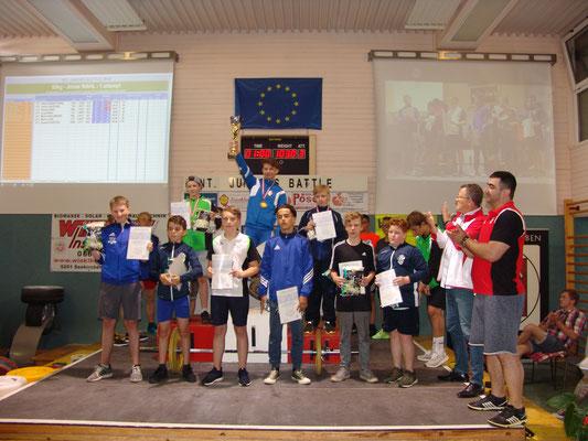 Siegerehrung U15 mit Barth Florian (KSV-Rum)